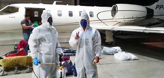 Sanitização em aeronave
