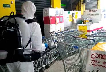 Sanitização em Supermercado