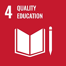The official global goals 4 logo for quality education