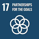 The official global goals 17 logo for Partnerships for the Goals