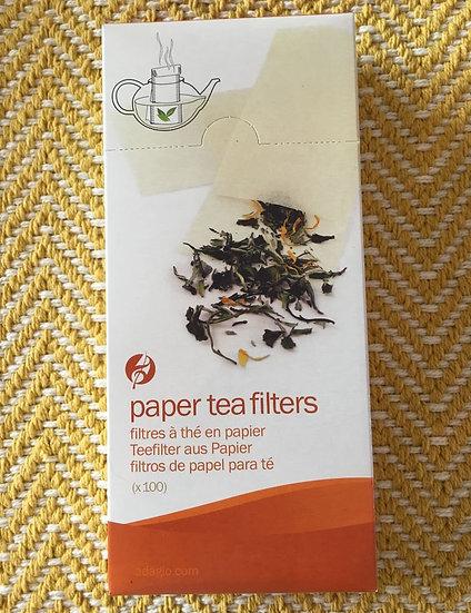 Paper Tea Filters – a box of 100