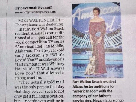 Thank you Savannah Evanhoff with Northwest Florida Daily News for the interview!