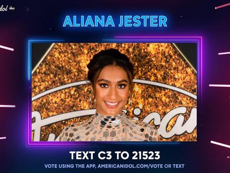 VOTE FOR ALIANA JESTER'S COME BACK ON AMERICAN IDOL SEASON 19, 2021!