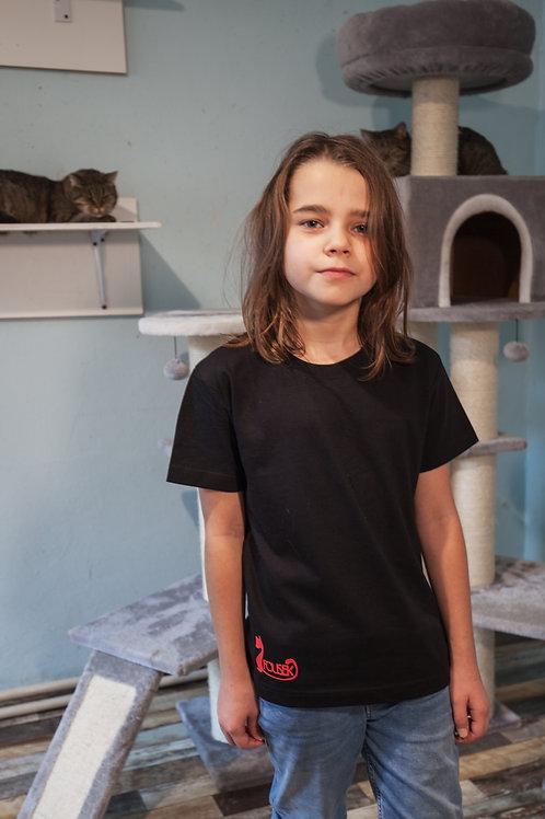 Dětské triko Fousek Černá