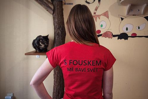 Dámské triko Fousek Červená