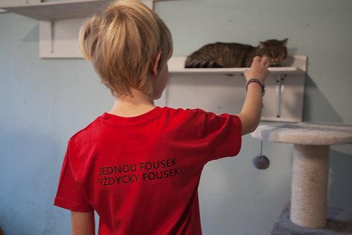 Dětské triko Fousek Červená