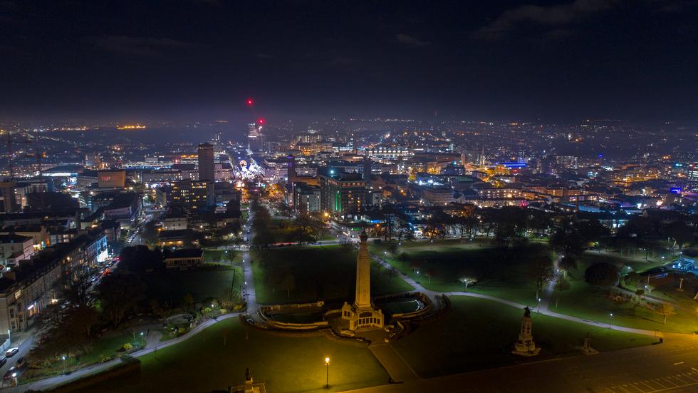Plymouth at Night