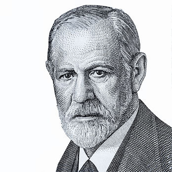 Sigmund Freud Portrait from Austria 50 S