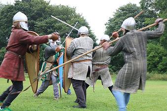Medieval reenactment combat practice