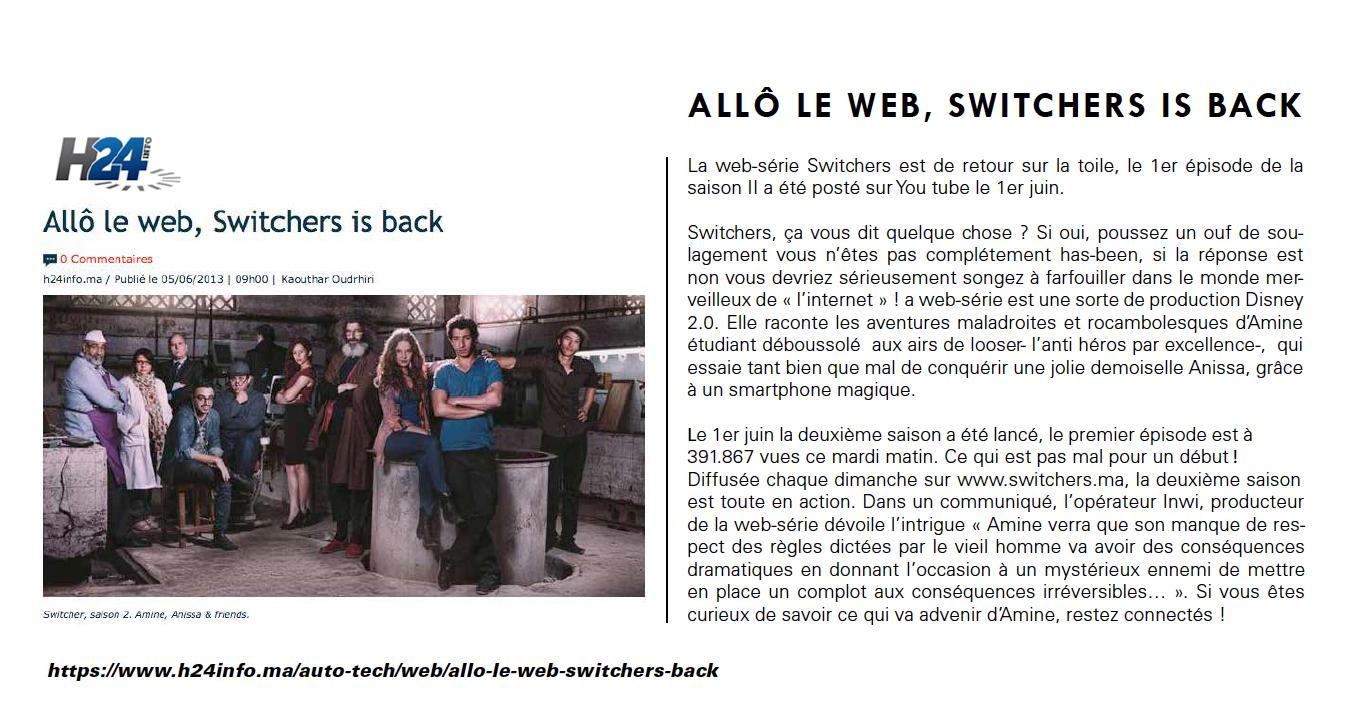 Allo le Web Switchers is back