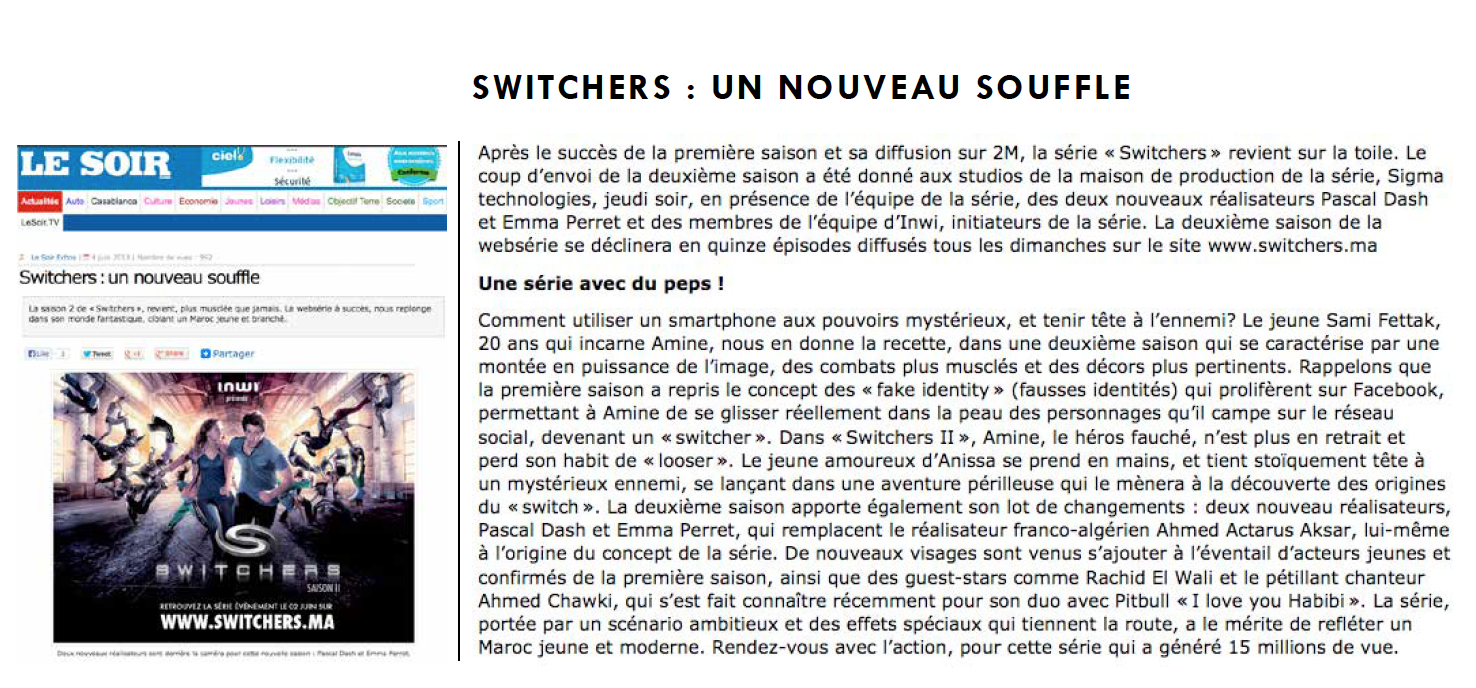 Le Soir Switchers 2