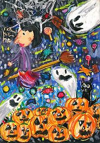 艾莉雅2021年 小童組 - 西畫 冠 軍 繽紛萬聖節.jpg