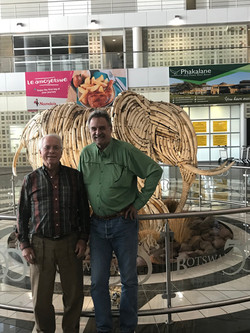 John with Richard Cheatham, DSCF, in Botswana