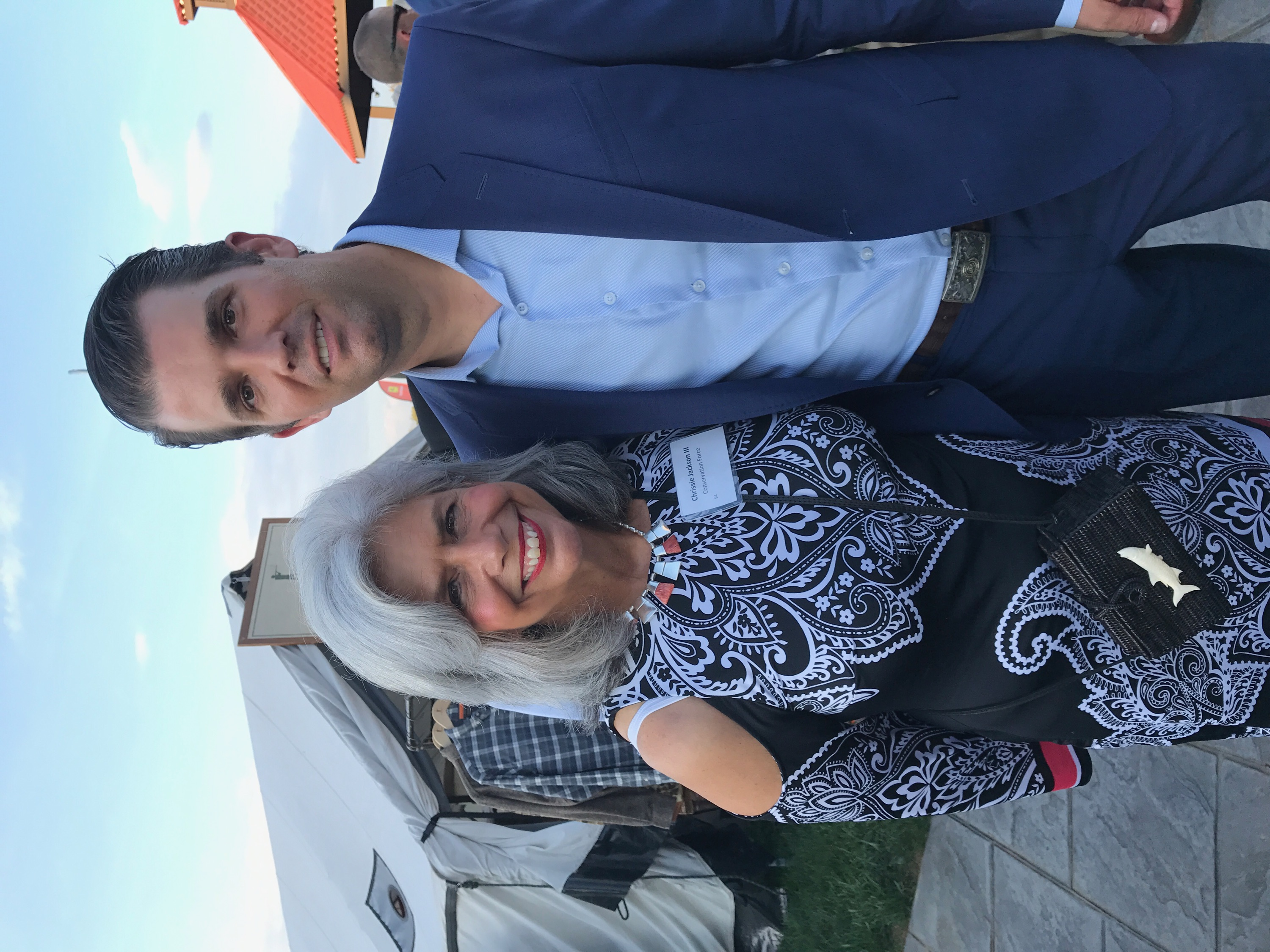 Chrissie with Donald Trump, Jr.