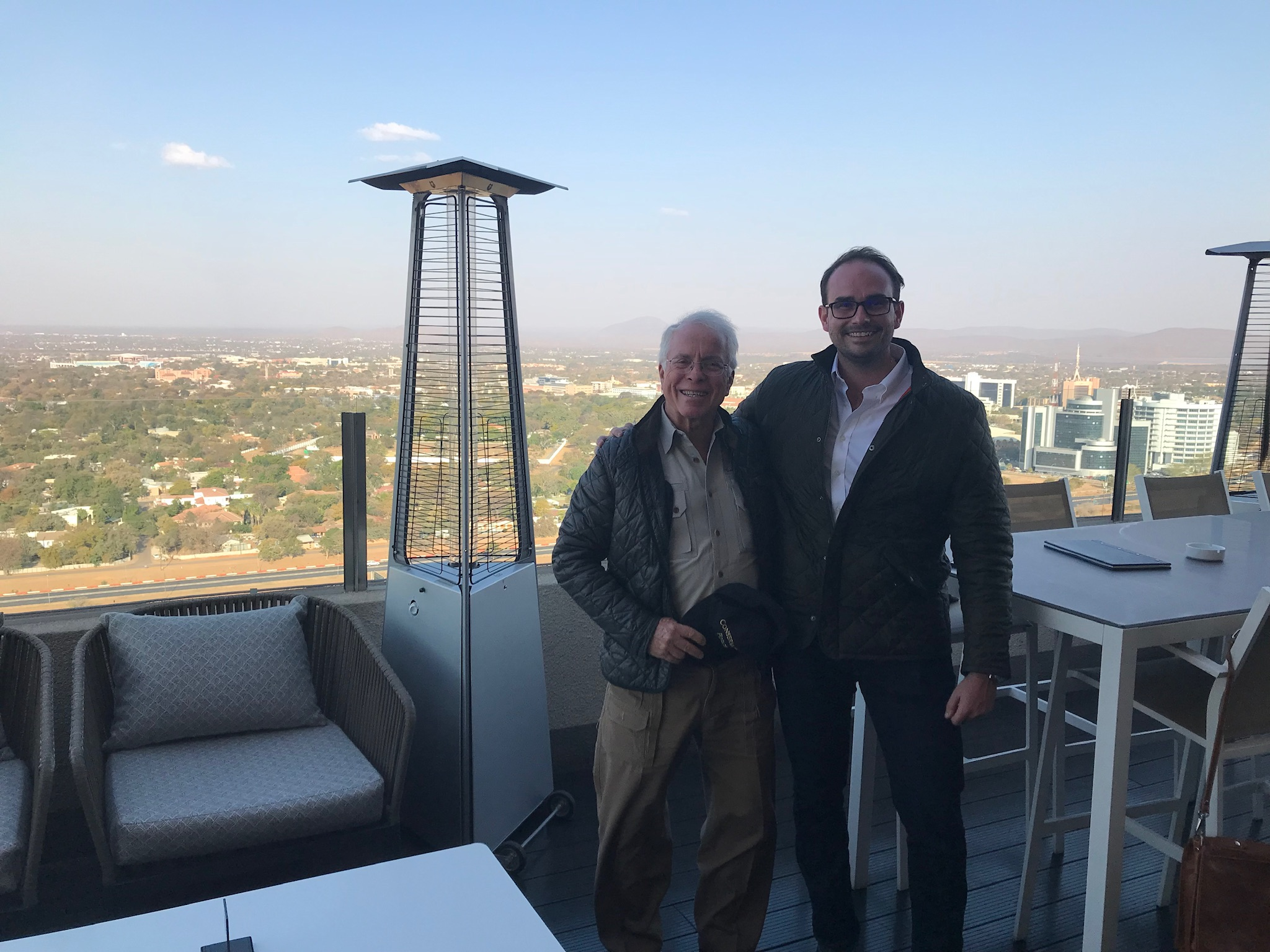 John and Matt Boguslawski in Botswana