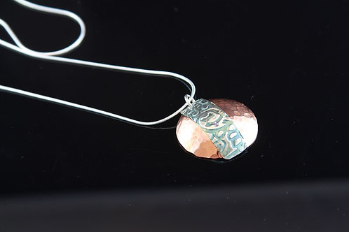 Copper and Silver Necklace 18""