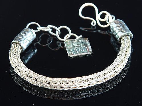 Silver Weave Bracelet