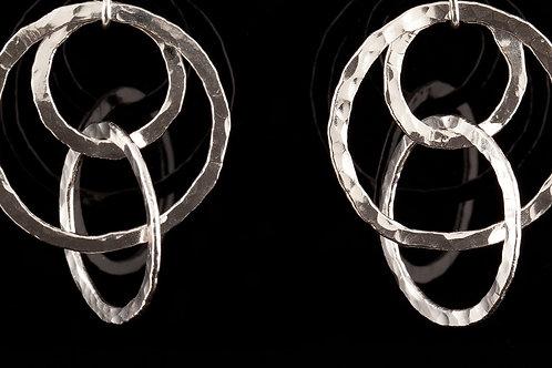 Floating Silver Earrings