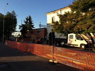 Iniziati i lavori presso il piazzale della stazione con la finalità di riqualificare una zona strate