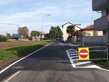 Terminati i lavori di messa in sicurezza di via Piemonte