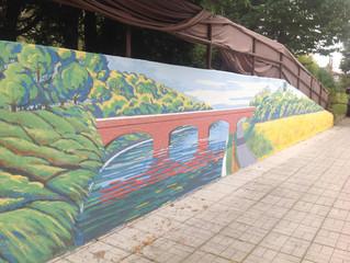 Inaugurato il murales all'interno dell'Albergo del Nonno!