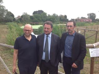 L'Assessore Regionale all'Agricoltura Giovanni Fava e il Presidente del DAVO (Distretto Agri