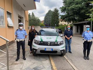 Per la Polizia Locale una nuova auto con la cella per la sicurezza degli agenti