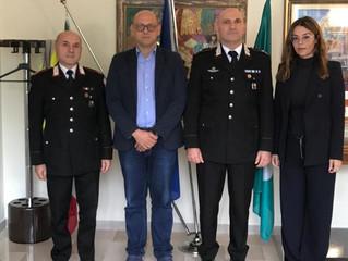 Il nuovo Comandante della Compagnia Carabinieri di Legnano in visita presso il Comune di Parabiago.
