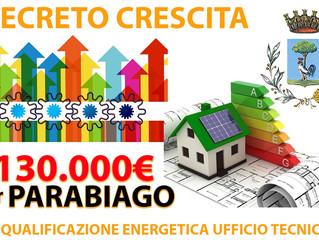 Dal governo 130.000,00 euro per riqualificare energeticamente l'Ufficio Tecnico Comunale di Para