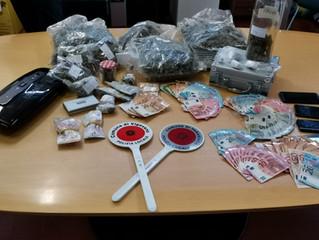 Arrestato un italiano di 36 anni in possesso di ingenti  quantitativi di sostanze stupefacenti