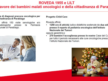 Visite oncologiche gratuite grazie a una donazione di Roveda 1955 all'associazione LILT.