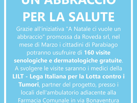 Su iniziativa di Roveda è possibile prenotare visite oncologiche gratuite all'associazione LILT