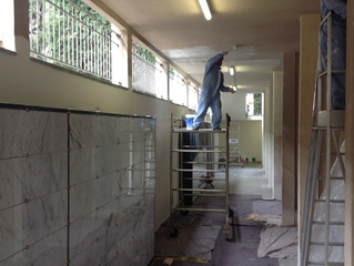 In corso d'opera i lavori per la realizzazione di nuove cellette presso il cimitero cittadino