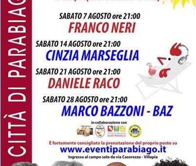 Sabato 7 agosto inizia la rassegna Summer Time Parabiago!