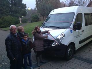 Inaugurazione dei nuovi mezzi destinati al trasporto delle persone con disabilità e anziane.