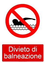 Divieto di balneazione lungo i canali e i fiumi, in particolare presso il canale Villoresi e il fium