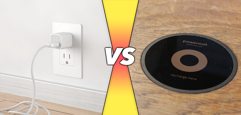 Wall chargers versus wireless chargers (Powermat)