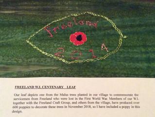 Freeland W.I. Centenary Leaf