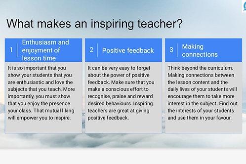 POSTER- What makes an Inspiring Teacher?