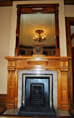 Butternut Mantel and Mirror