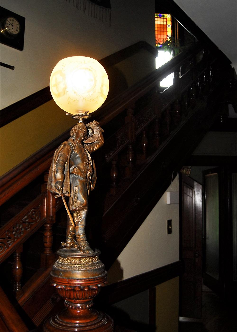 Lighted Newel Post Statue