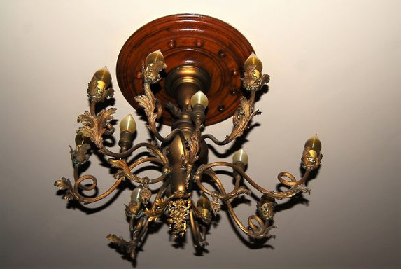 Ornate Brass Chandelier