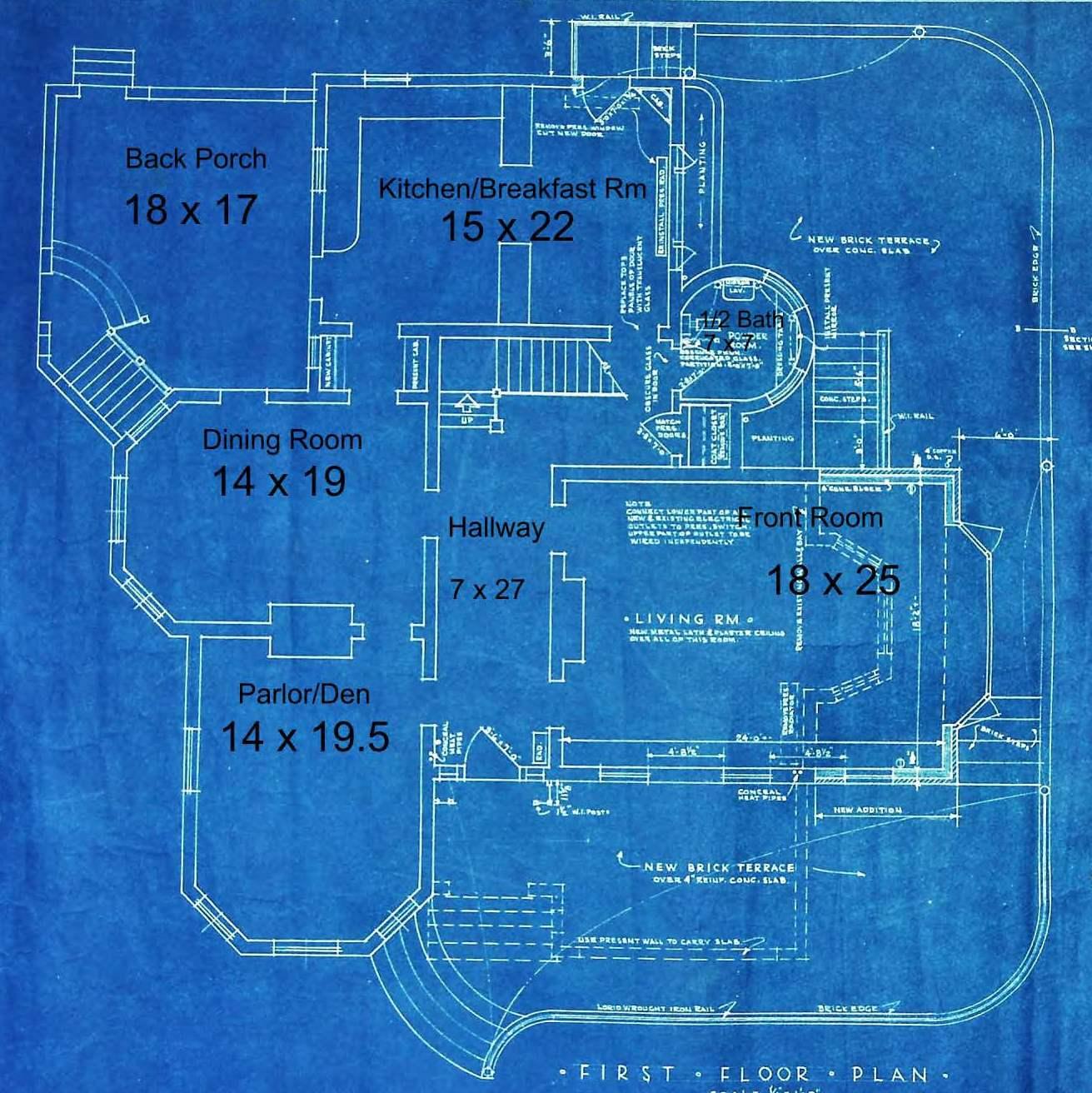Blueprint of First Floor