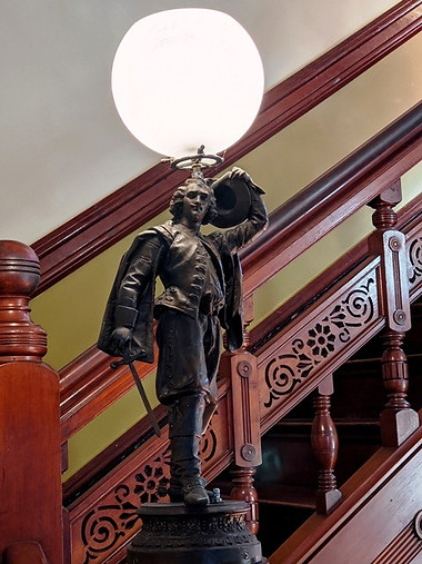 Newel Post Statue - Pierced Stairway Panels