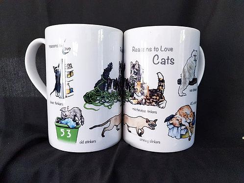 Reasons to Love Cats Mug