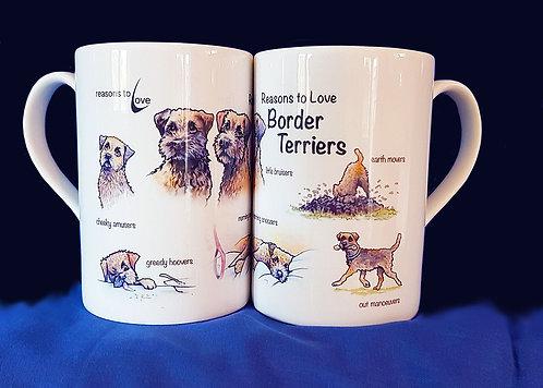 Reasons to Love Border Terrier Mug