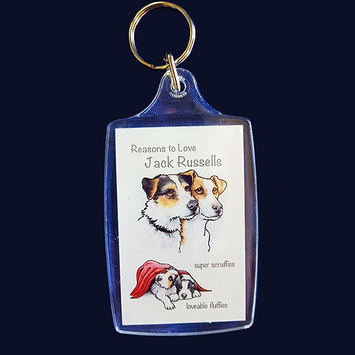 Reasons to Love Jack Russells Key Ring
