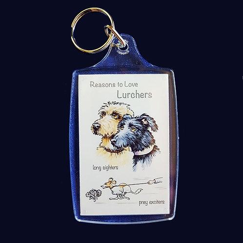 Reasons to Love Lurchers Key Ring