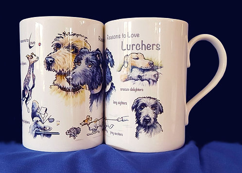 Reasons to Love Lurchers Mug