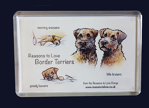 Reasons to Love Border Terriers Fridge Magnet